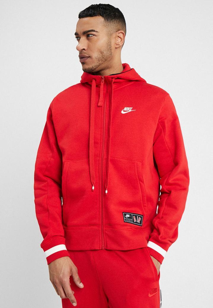 Araña de tela en embudo Barbero Negar  Jerséis Nike Sportswear Hombre | AIR HOODIE - Sudadera con cremallera  university red - Education Lamp